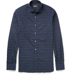 Isaia Slim-Fit Checked Cotton Shirt