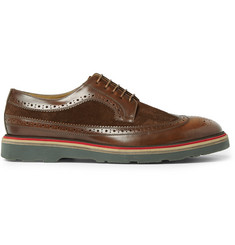 Paul Smith Shoes & Accessories Contrast-Sole Leather and Suede Derby Brogues