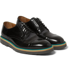 Paul Smith Shoes & Accessories Rubber-Soled Polished-Leather and Suede Derby Shoes