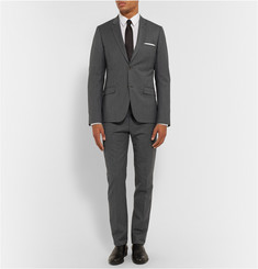 Calvin Klein Collection Grey Cotton and Wool-Blend Suit