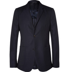 Calvin Klein Collection Blue Wool-Hopsack Blazer