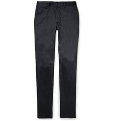 Calvin Klein Collection Crosby Slim-Fit Cotton-Blend Trousers