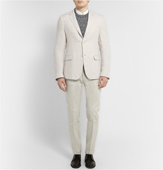 Calvin Klein Collection Stone Crosby Slim-Fit Cotton-Blend Suit Trousers