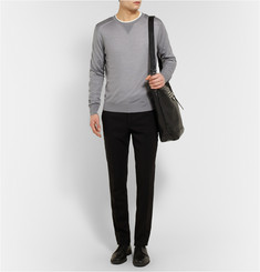 Calvin Klein Collection Gaener Fine-Knit Wool-Blend Sweater