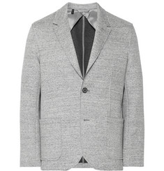 Lanvin Grey Bonded Cotton-Blend Jersey Blazer