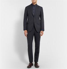 Lanvin Navy Attitude Slim-Fit Wool Suit