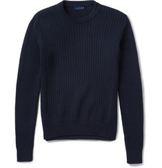 Lanvin Ribbed-Knit Cotton Sweater