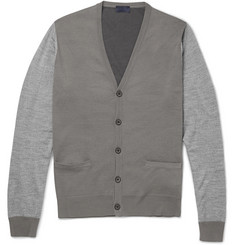Lanvin Colour-Block Wool and Cotton-Blend Cardigan