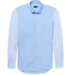 Lanvin Slim-Fit Contrast-Sleeve Cotton Shirt
