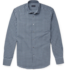 Lanvin Slim-Fit Gingham Check Cotton Shirt