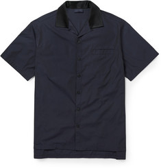 Lanvin Satin-Collar Cotton Shirt