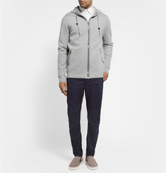 Lanvin Leather Elbow Patch Cotton Hoodie