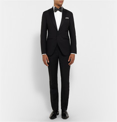 Hardy Amies White Cotton-Poplin Tuxedo Shirt