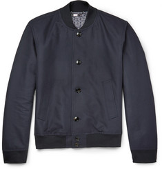 Hardy Amies Cotton-Gabardine Bomber Jacket