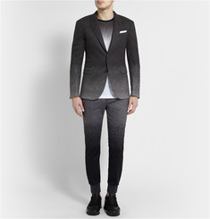 Neil Barrett Grey Slim-Fit Dégradé Wool-Blend Suit Jacket