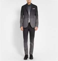 Neil Barrett Grey Slim-Fit Dégradé Wool-Blend Suit Trousers