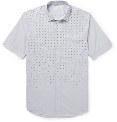 Neil Barrett Slim-Fit Dot and Stripe-Print Cotton Shirt