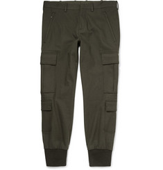 Neil Barrett Cuffed Cotton-Blend Sweatpants
