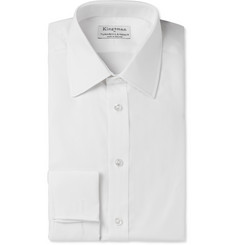Kingsman Turnbull & Asser White Cotton-Twill Shirt