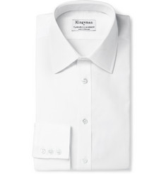Kingsman Turnbull & Asser White Royal Oxford Cotton Shirt