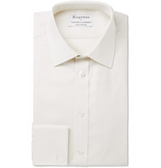 Kingsman Turnbull & Asser Cream Royal Oxford Cotton Shirt