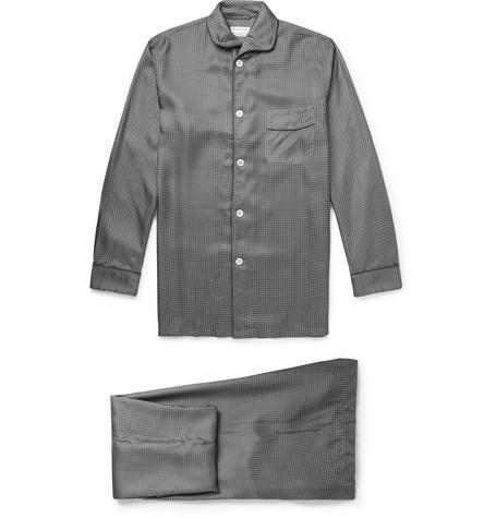 Kingsman - Turnbull & Asser Polka-Dot Silk Pyjamas