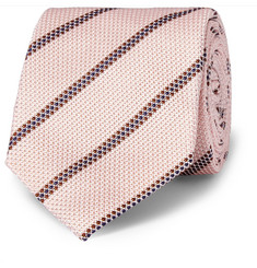 Kingsman Drake's Striped Woven-Silk Tie