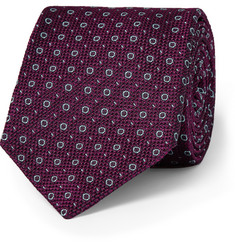 Kingsman Drake's Patterned Woven-Silk Tie