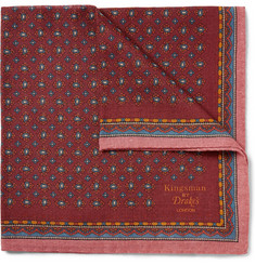 Kingsman Drake's Paisley Wool and Silk-Blend Pocket Square