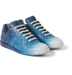 Maison Margiela Dégradé Panelled Leather Sneakers