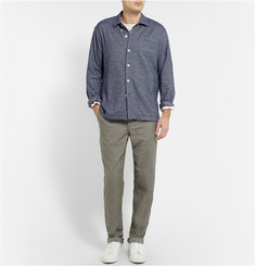 Oliver Spencer Loungewear Lounge Lux Cotton-Flannel Overshirt