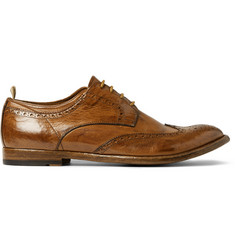 Officine Creative Anatomia Glossed-Leather Brogues