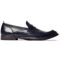 Officine Creative Anatomia Glossed-Leather Penny Loafers