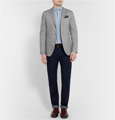 Boglioli Dover Slim-Fit Unstructured Cotton and Silk-Blend Blazer