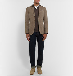 Boglioli Dover Slim-Fit Unstructured Linen and Silk-Blend Blazer