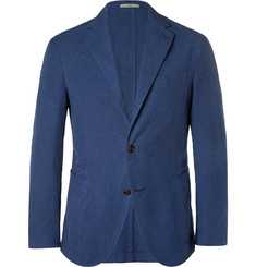 Boglioli Navy Unstructured Cotton-Blend Blazer