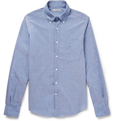 Boglioli Slim-Fit Button-Down Collar Cotton Shirt