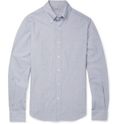 Boglioli Slim-Fit Button-Down Collar Flecked Cotton-Blend Shirt