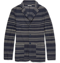 Boglioli Striped Linen and Cotton-Blend Cardigan