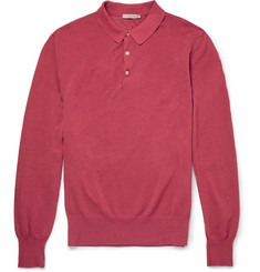Boglioli Long-Sleeved Cotton Polo Shirt