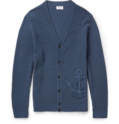 Faconnable Anchor Mercerised-Cotton Cardigan