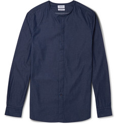 Faconnable Denim Henley Shirt
