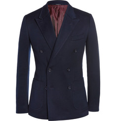 Dolce & Gabbana Cotton-Blend Piqué Double-Breasted Blazer