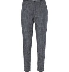 Dolce & Gabbana Tapered Check Cotton Trousers