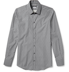 Dolce & Gabbana Gold-Fit Polka-Dot Cotton-Poplin Shirt