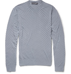 Dolce & Gabbana Polka-Dot Silk Sweater