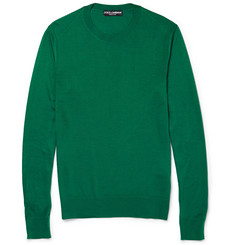 Dolce & Gabbana Knitted Silk Sweater