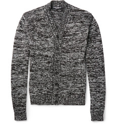 Dolce & Gabbana Two-Tone Cotton and Silk-Blend Cardigan