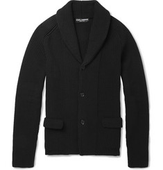 Dolce & Gabbana Cotton-Blend Shawl-Collar Cardigan