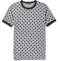 Dolce & Gabbana Polka-Dot Cotton-Jersey T-Shirt
